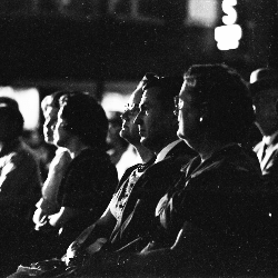 Vintage photo of theater audience